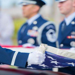 Veteran Caskets Flag